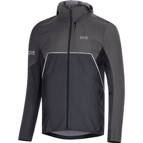 GORE WEAR R7 Partial Gore-Tex Infinium Hooded Jacket Herren black/terra grey